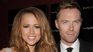 Kimberley Walsh and Ronan Keating