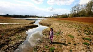Girl at Bewl Water Reservoir near Lamberhurst, Kent