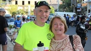 John Lawton with his wife Lynda, pic courtesy of trailproject.gr
