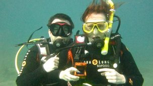 Brian and Hayley got engaged while scuba diving in Tenerife