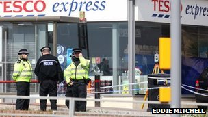 Scene of the assault in Rottingdean (photo by Eddie Mitchell)