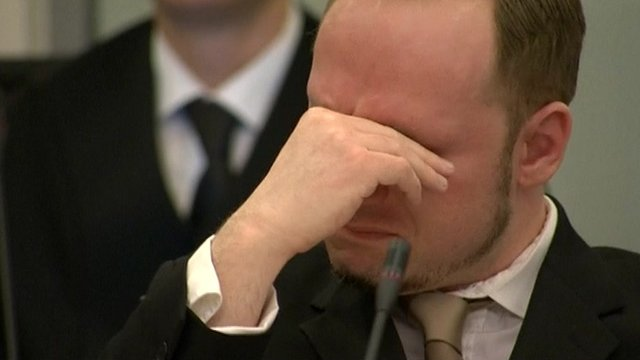 Anders Breivik wept in court