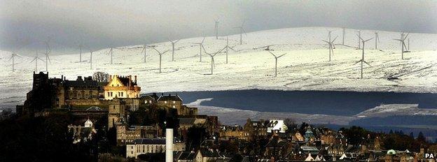 Braes of Doune wind farm near Stirling