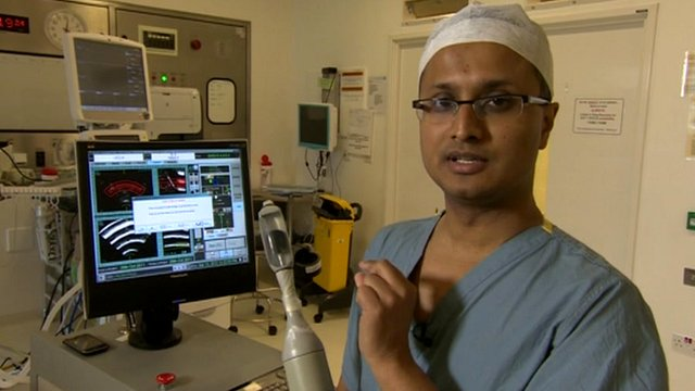 Surgeon Hashim Ahmed explains how the new prostate cancer probe works