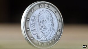 Spanish euro coin