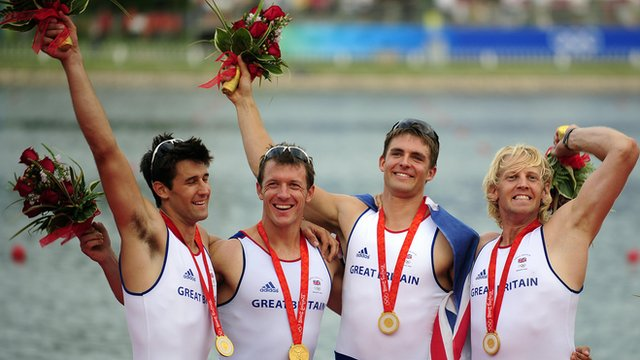 Britain's 2008 Beijing Olympic coxless four winners