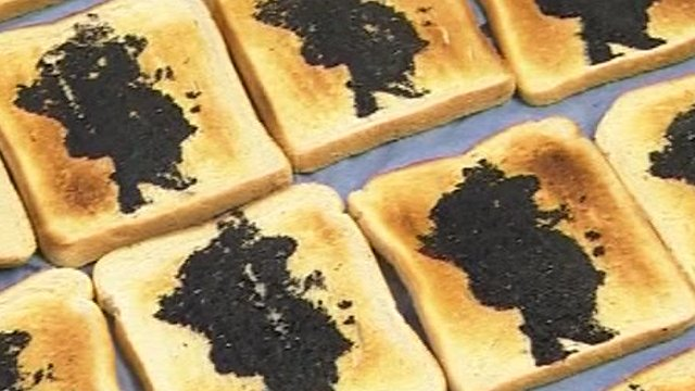 The installation will comprise 8,300 pieces of toast