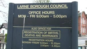 Larne Borough Council sign