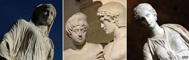 Roman statues