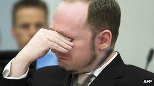 Breivik cries in court