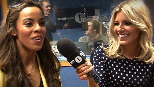 Rochelle and Mollie from The Saturdays