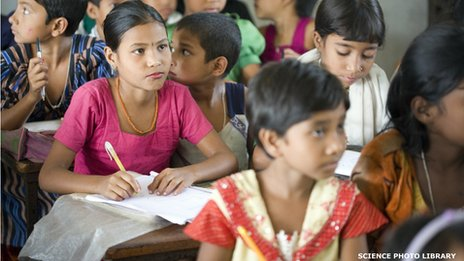 Schoolchildren in Bangladesh, file picture