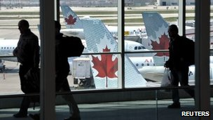 Air Canada planes at Pearson International Airport in Toronto 13 April 2012