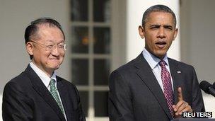Dr Jim Yong Kim and President Obama