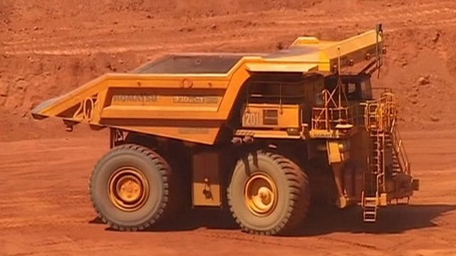 A cast ore-carrying truck, Australia