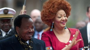 President Paul Biya of Cameroon, and his wife Chantal