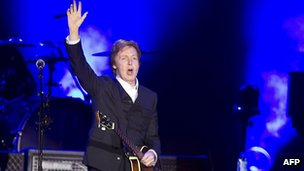 Sir Paul McCartney in concert in Rotterdam