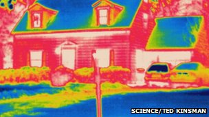 Thermogram of home