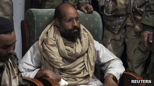 Saif al-Islam has been held by militiamen in Libya since November 2011