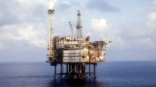 Oil platform in North Sea