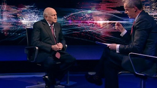 F.W. de Klerk and Stephen Sackur
