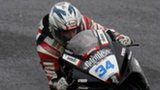 Alastair Seeley takes the chequered flag at the 2011 NW200