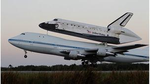 Discovery takes off from Florida, 17 April