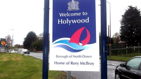 Sign honouring Rory McIlroy