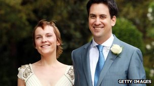 Justine and Ed Miliband