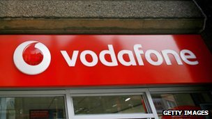 Vodafone store front