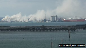 Southampton docks fire