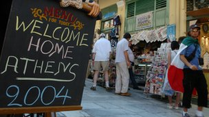 Athens 2004 Olympics motto - 'Welcome home'