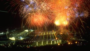 The spectacular opening ceremony for the 1992 Barcelona Olympics