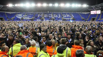 There was a pitch invasion after the match