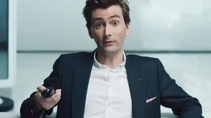 David Tennant in Virgin Media ad