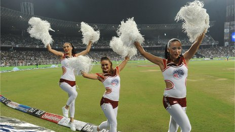 Cheerleaders in Indian Premier League match