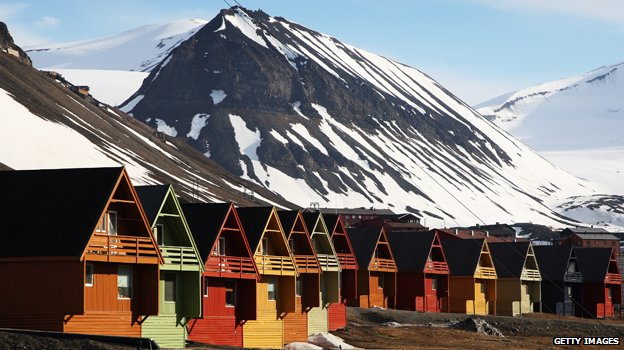 Norwegian arctic resort of Longyearbyen