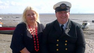 Jane Dolby with Senior Superintendent Tim Jenkins of the Fisherman's Mission