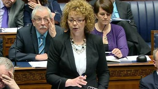 Agriculture Minister Michelle O'Neill and Culture Minister Caral Ni Chuilin answered questions on the floor of the house.