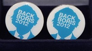 Back Boris 2012 cufflinks