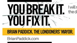 Liberal Democrat poster with slogan &#039;You Break It You Fix It&#039;