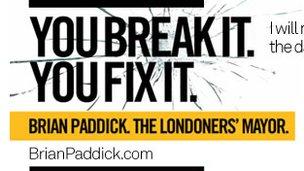 Liberal Democrat poster with slogan 'You Break It You Fix It'