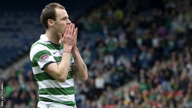 Celtic striker Anthony Stokes