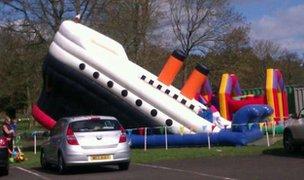 Titanic bouncy castle