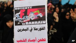 Anti-government demonstrations have been widespread in the run up to the Grand Prix