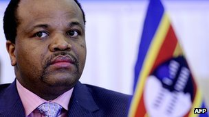King Mswati III photographed in August 2011