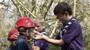 Young leaders in the Scouts