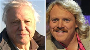 Sir David Attenborough and (right) Keith Lemon