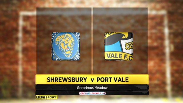 Highlights - Shrewsbury 1-0 Port Vale