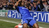 Didier Drogba celebrating his goal